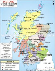 Mappa della Scozia